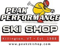 Peak Performance Ski Shop Killington, VT logo www.peakskishop.com
